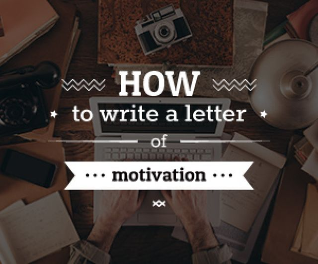 Modèle de visuel how to write a letter of motivation poster - Medium Rectangle