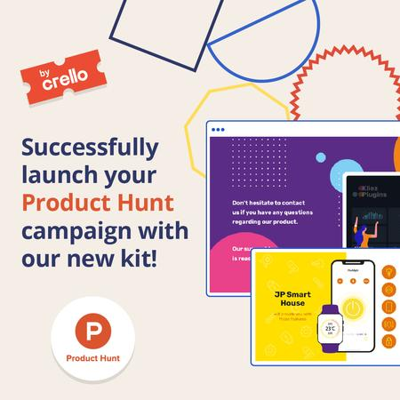 Product Hunt Launch Kit Offer Digital Devices Screen Instagram Modelo de Design