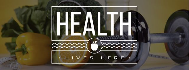 Healthy lifestyle Concept Facebook cover Modelo de Design