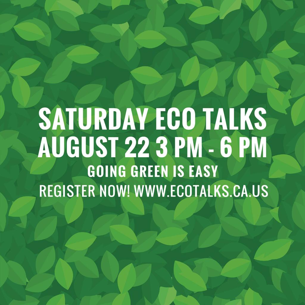 Saturday eco talks  — Modelo de projeto