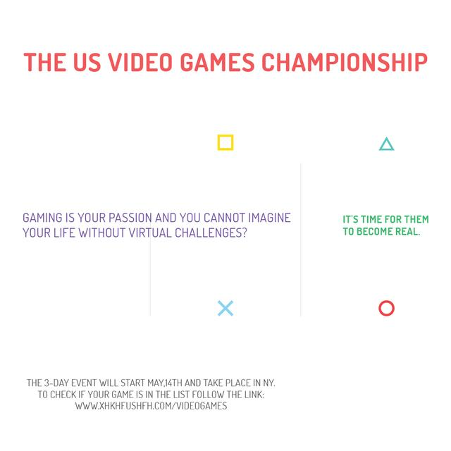 Plantilla de diseño de Video games Championship  Instagram