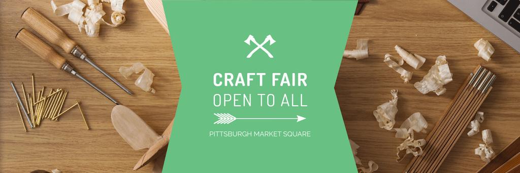 Craft Fair Announcement Wooden Toy and Tools — Crear un diseño