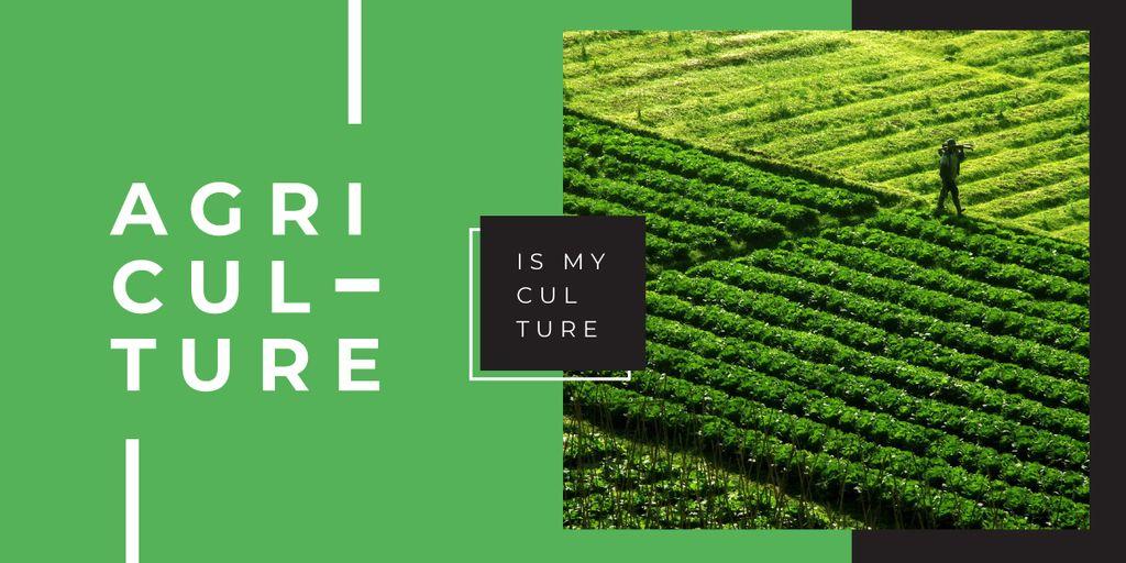 Farmer working in field — Создать дизайн