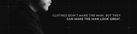 Plantilla de diseño de Citation about a man clothes Twitter