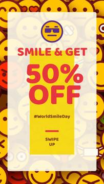 Sale Offer Funny Emoji Set