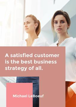 Citation about a best business strategy