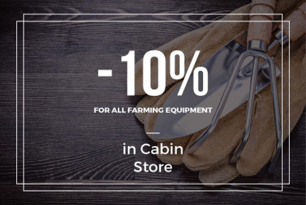 discount card for farming equipment — Створити дизайн