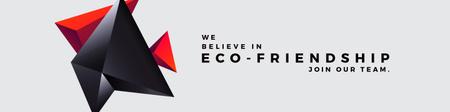 Plantilla de diseño de Eco-friendship concept Twitter
