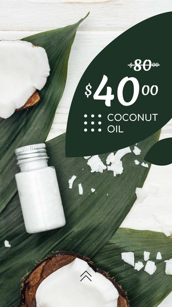 Cosmetics Offer with Natural Oil in Bottles — Crear un diseño