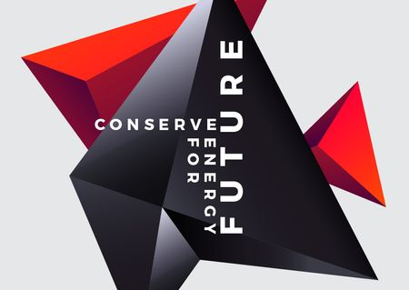 Ontwerpsjabloon van Card van Concept of Conserve energy for future