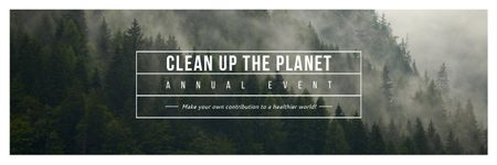 Clean up the Planet Annual Event Email headerデザインテンプレート