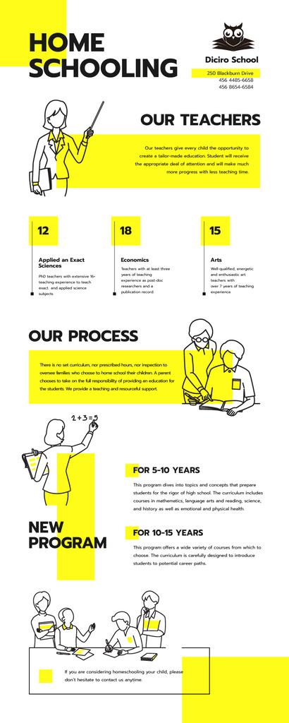 Education infographics about Home schooling — Crea un design