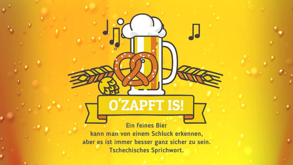 Oktoberfest Offer Lager in Glass Mug in Yellow — Створити дизайн