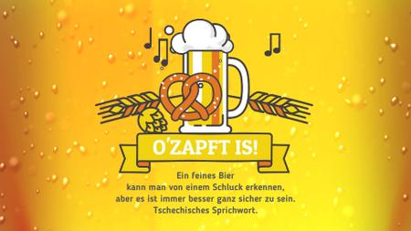 Plantilla de diseño de Oktoberfest Offer Lager in Glass Mug in Yellow Full HD video