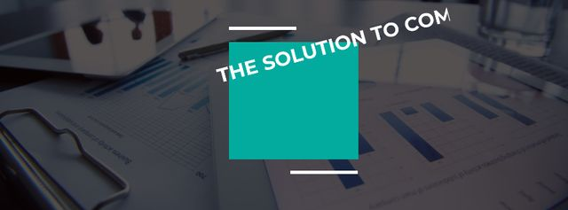 Modèle de visuel Motivational Quote Table with business papers - Facebook cover