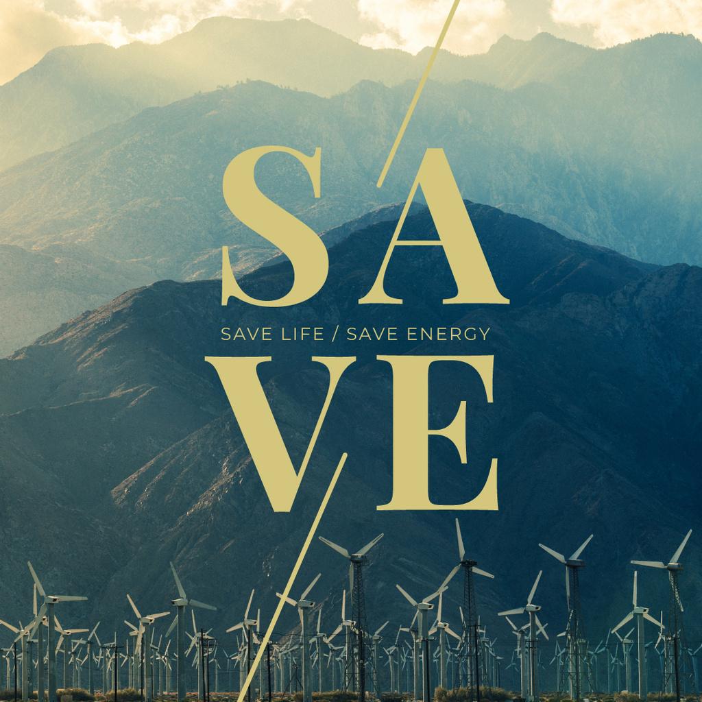 Wind turbines farm — Créer un visuel