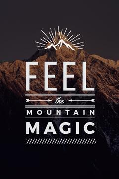 feel the mountain magic poster