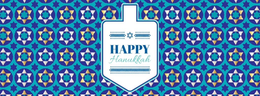 Happy Hanukkah greeting with Dreidel — Crea un design