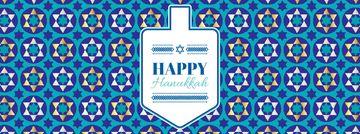 Happy Hanukkah greeting with Dreidel
