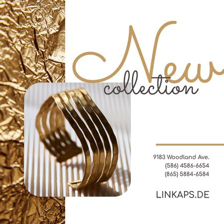 Designvorlage Jewelry Collection Ad Golden Ring für Instagram