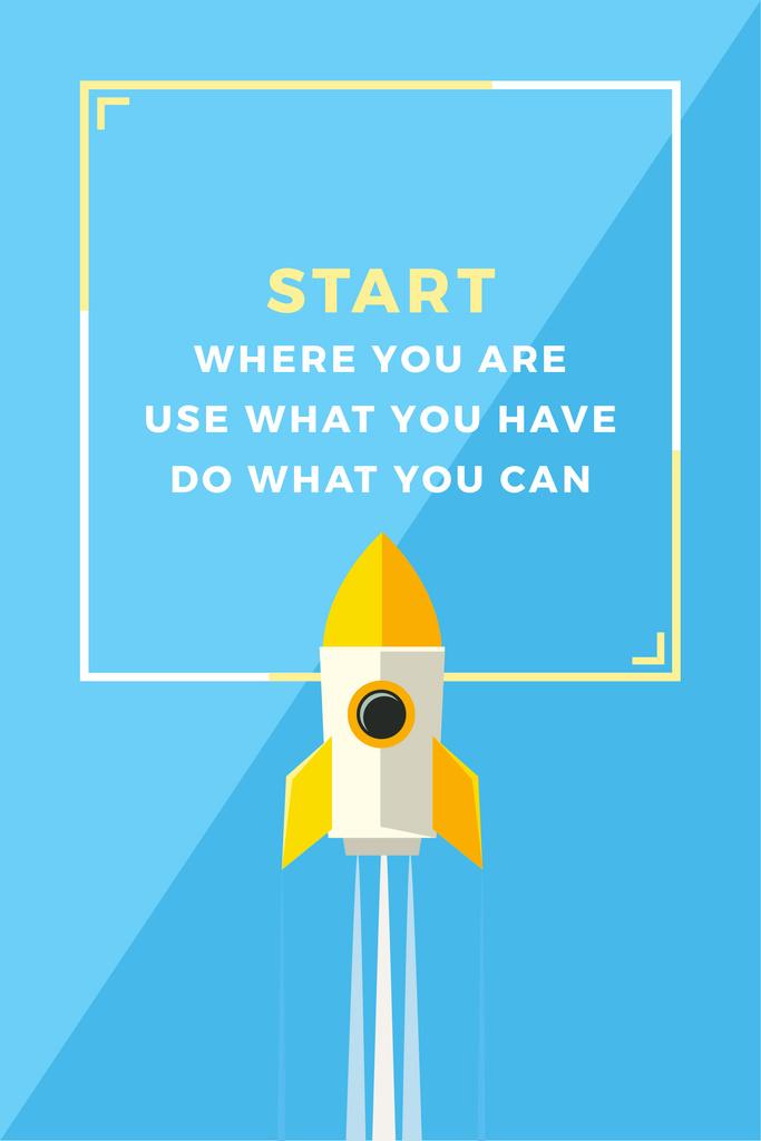 Citation about business start — Maak een ontwerp