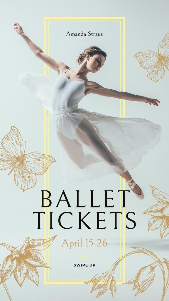 Ballet Invitation with Passionate Dancer — ein Design erstellen