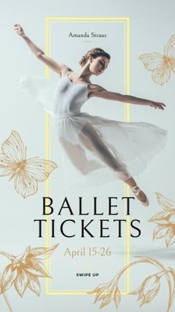 Plantilla de diseño de Ballet Invitation with Passionate Dancer Instagram Story