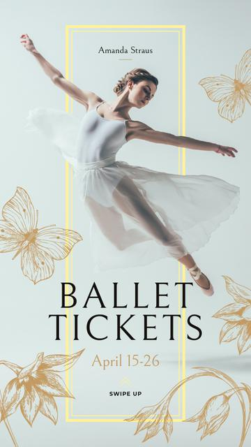 Plantilla de diseño de Ballet Invitation with Passionate Dancer Instagram Story