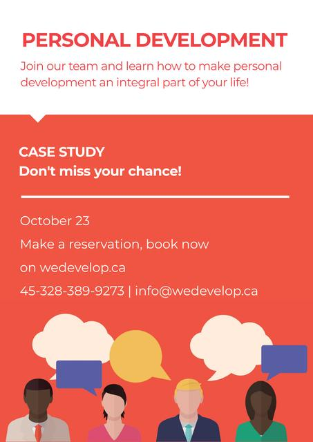 Plantilla de diseño de Personal development in Case study Poster