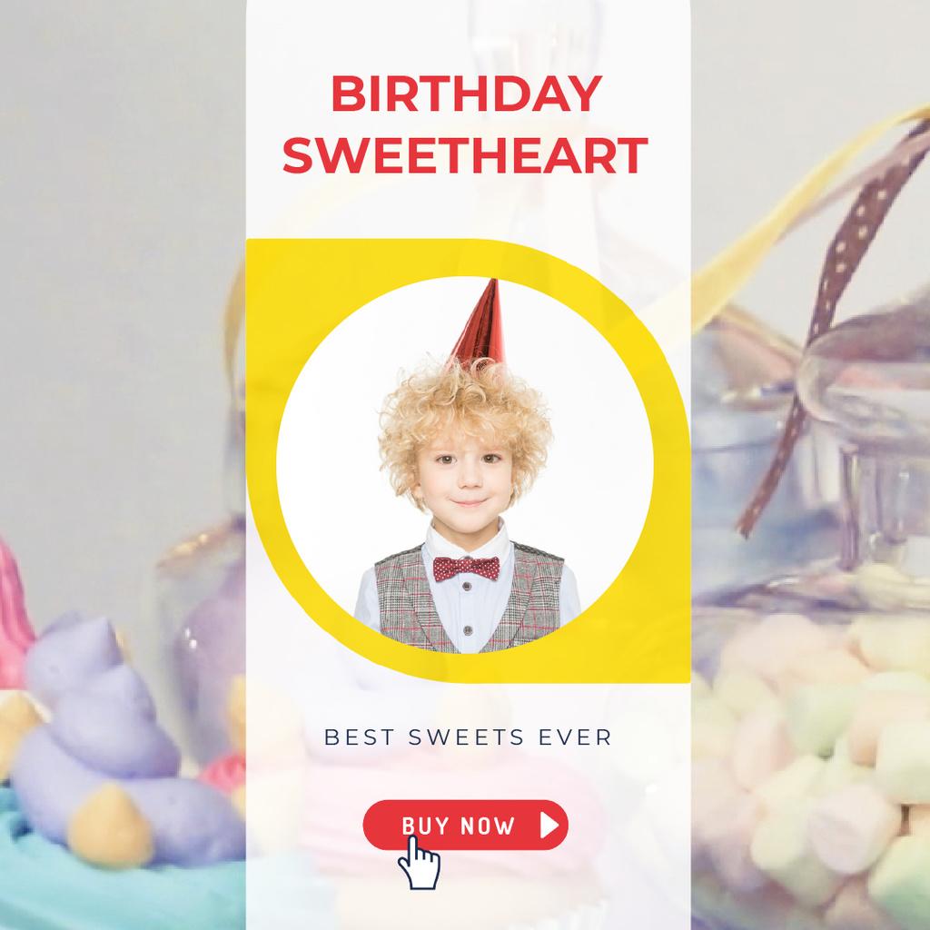 Birthday Sweets Offer with Happy Boy — Crear un diseño