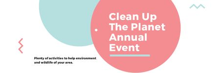 Template di design Clean up the Planet Annual event Email header
