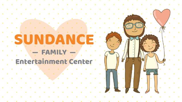 Plantilla de diseño de Father hugging smiling kids Full HD video