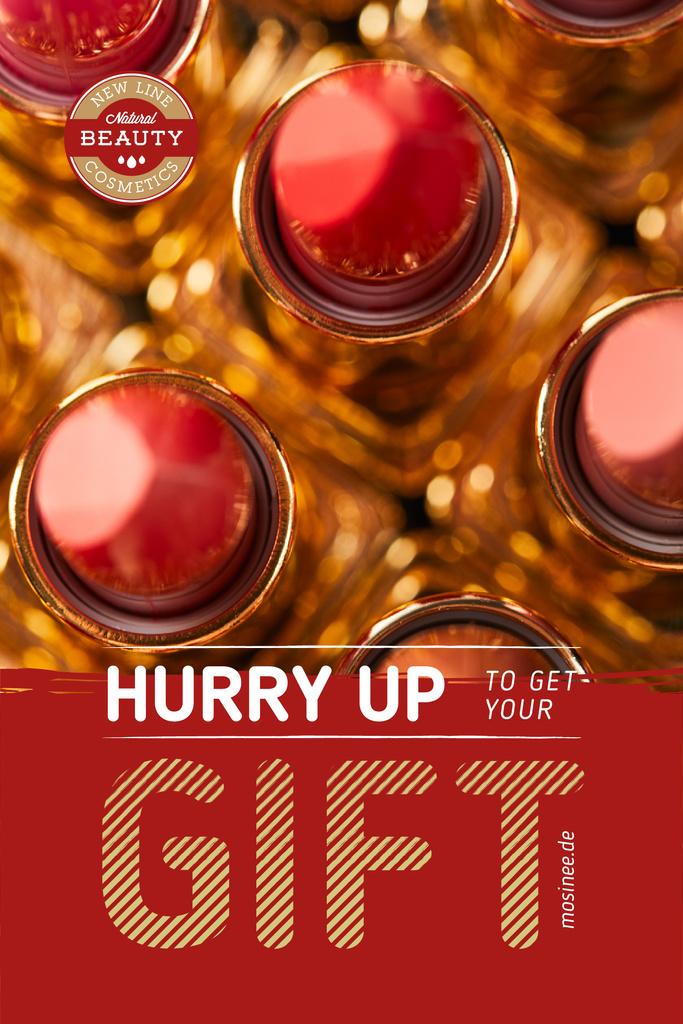 Cosmetics Sale with Red Lipstick — Создать дизайн