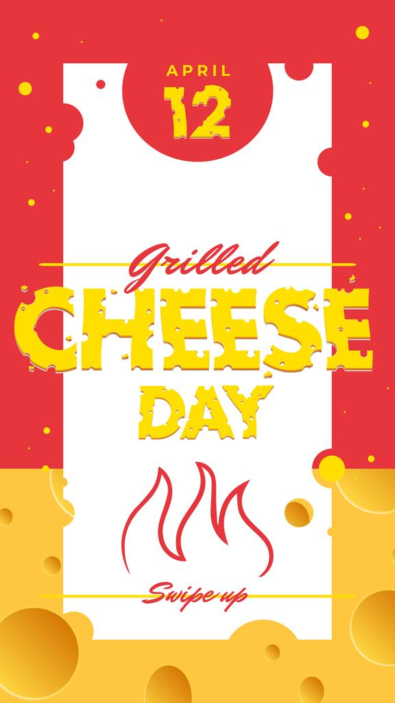 Grilled cheese day with Fire illustration — Создать дизайн