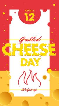 Grilled cheese day with Fire illustration