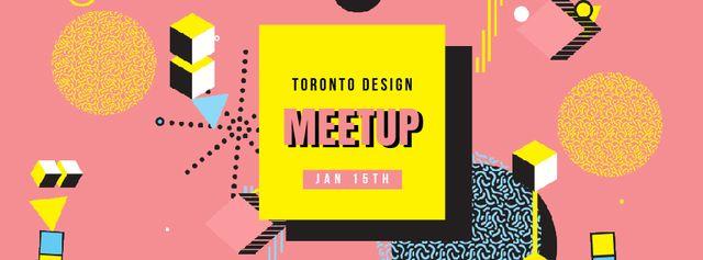 Szablon projektu Design Conference Simple icons pattern Facebook Video cover