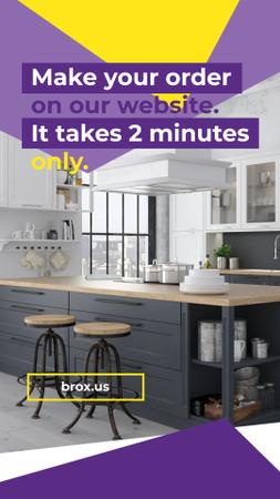 Modern Home Kitchen Interior Instagram Video Story – шаблон для дизайну