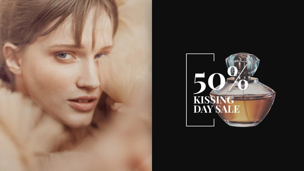 Kissing Day Sale Perfume Ad Beautiful Woman | Full HD Video Template — Create a Design