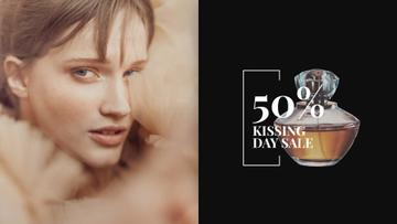 Kissing Day Sale Perfume Ad Beautiful Woman | Full HD Video Template