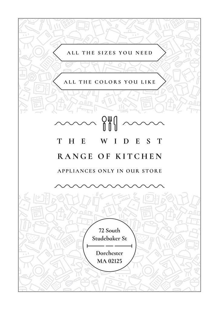 Kitchen appliances store — Create a Design