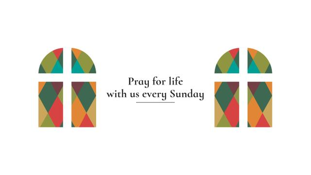 Invitation to Pray with Church windows Youtube Modelo de Design