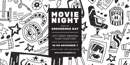 Plantilla de diseño de Movie night event Image