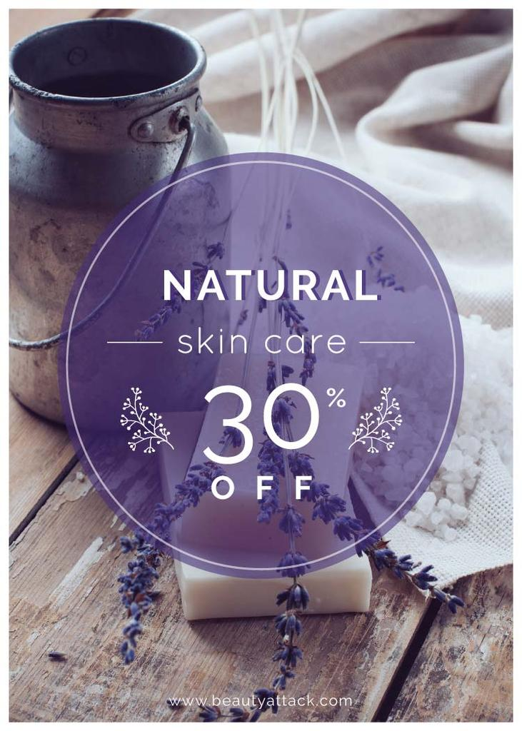 Natural skincare sale with lavender Soap — Modelo de projeto