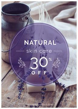 Natural skincare sale poster