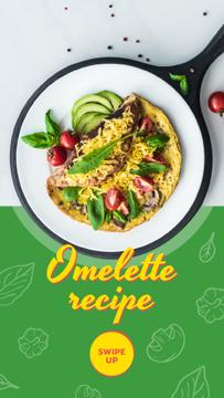 Omelet dish with Vegetables