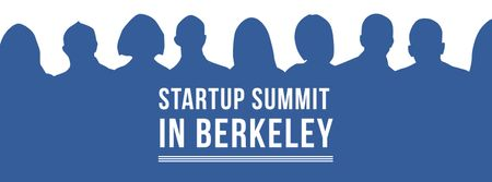 Startup Summit Announcement Businesspeople Silhouettes Facebook coverデザインテンプレート