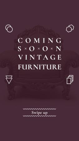 Antique Furniture Ad Luxury Armchair Instagram Story – шаблон для дизайну