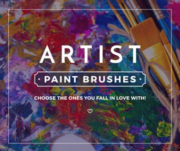 Drawing Materials Ad Oil Paint Background | Facebook Post Template