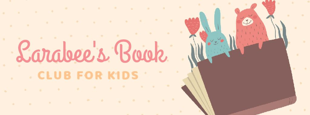 Book with animals illustration — Crear un diseño