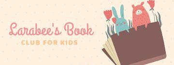Book with animals illustration